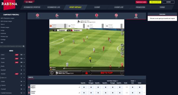 Rabona scommesse - sport virtuali