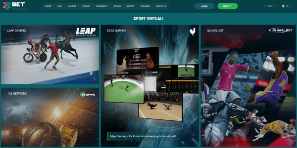 22Bet scommesse sport virtuali