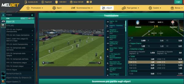 Melbet FIFA - scommesse eSports