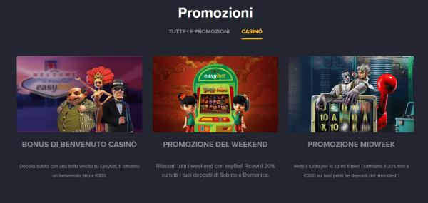 easyBet casino bonus online