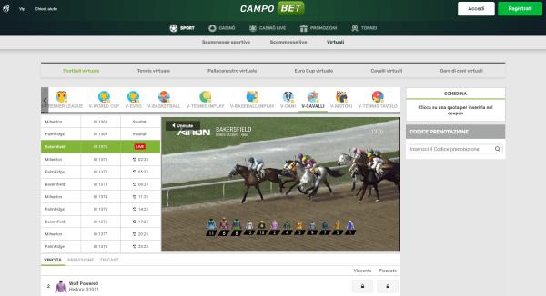 Campobet scommesse sport virtuali