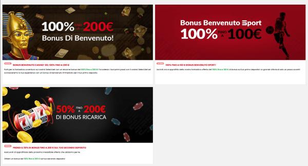 Bonus scommesse online
