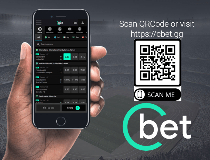 cbet app - sito mobile - qrcode
