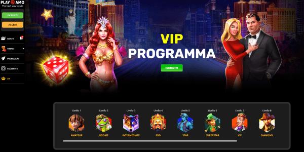 Playamo casino VIP Club - Entra nel VIP CLUB di Playamo casino !! Partecipa al programma vip del casinò.